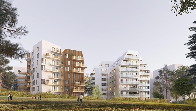 Paris 75 77 logements zac paul bourget arc ame for Bourget paris