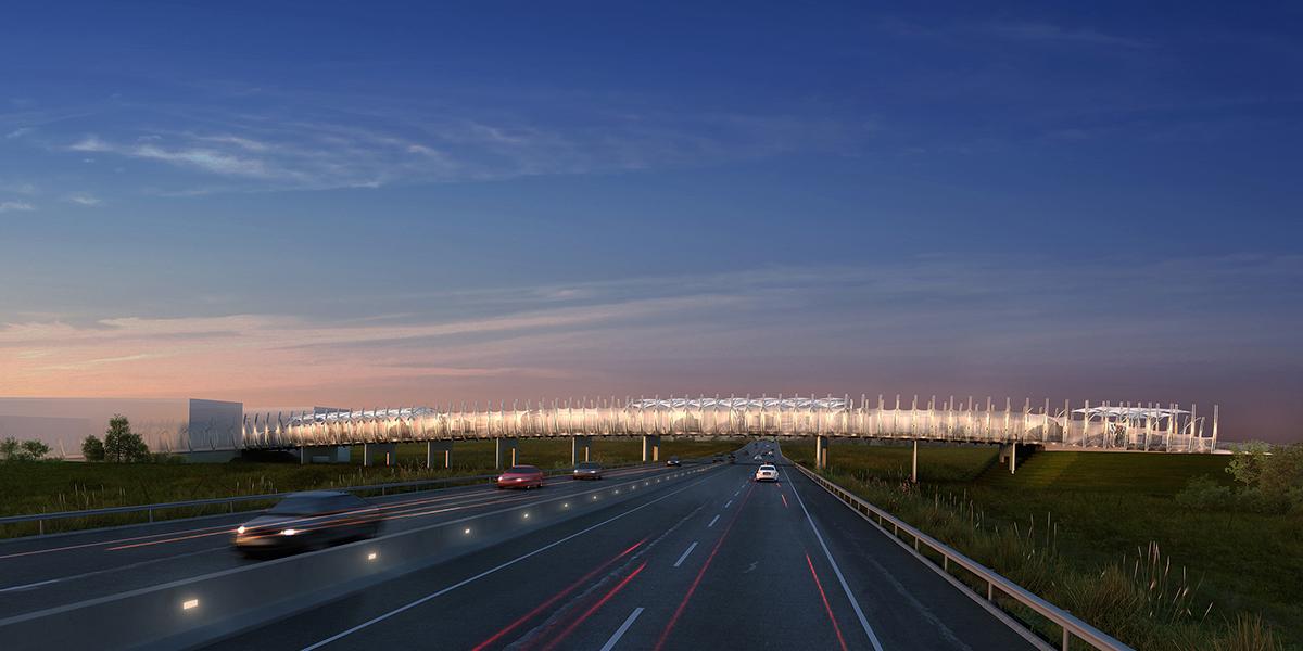 Heroic Land passerelle de franchissement Calais