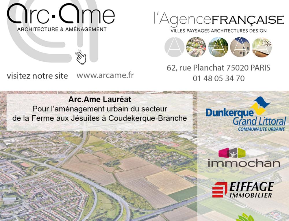 Arc.Ame Lauréat • Maîtrise d'oeurvre urbaine à Coudekerque-Branche